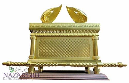 Judaica or Ark de Le Pacte Témoignage cuivre Base 43,2 cm Taille XL
