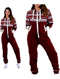 52aa17ca8df Parsa Fashions ® Womens Ladies Aztec Print Hooded Zip Up Onesie Jumpsuit  Plus Sizes S-