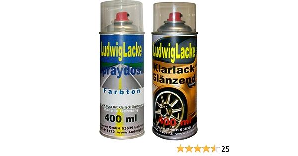 Ludwiglacke Jazzblue Lw5z 1d 9984 Für Vw Spraydosen Set Autolack Klarlack Je 400ml Auto