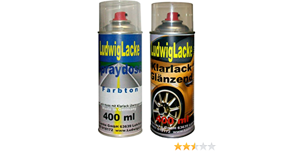 Ludwiglacke Europablau 2ku Für Opel Spraydosen Set Autolack Klarlack Je 400ml Auto