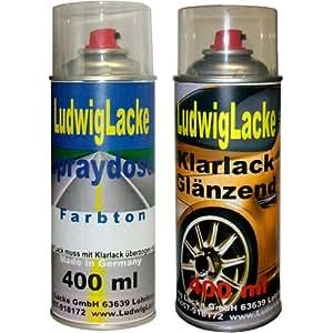 Sprayset pour opel code couleur bleu roi 20Z 2002–2014 uni *peinture modèles 2 spraydosen ludwiglacke de laque en spray une couche en aérosol de 400 ml et une boîte de chaque vernis brillant 400 ml spraydosen lB9A contiennent 1 k.