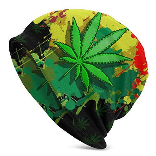 Axtuxdell Slouchy Beanie Hat Love Marijuana Men