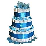 Tarta de pañales niño Dodot - Cuki azul- Mil Cestas