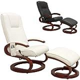 STILISTA Massagesessel im S-Design, Farbvarianten, HEIZFUNKTION, extra dicke Polsterung, weiß
