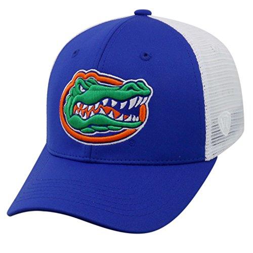 (Top of the World ncaa-ranger Trucker mesh-adjustable Snapback Hat Cap, Herren, Florida Gators-White)
