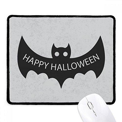 DIYthinker Hallowmas Schwarz Fledermäuse Happy Halloween Griffige Mousepad Spiel Büro Schwarz Titched Kanten Geschenk