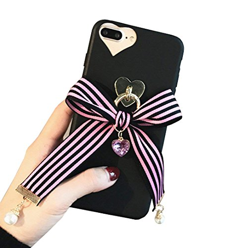 Dunkelheit Serie iPhone 6S Plus Fall, süße Lolita Spitze Punk Glocken Stiftbox Soft Silikon iPhone 6Plus Schutzhülle Handy Schutzhülle für Teen Mädchen iPhone X violett -