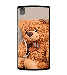 Cute Teddy 2D Hard Polycarbonate Designer Back Case Cover for OnePlus X :: One Plus X :: One+X