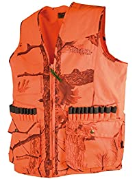 Chaleco de caza Treeland t251N/Fire Black, color naranja, tamaño XL