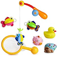 [7 Piezas] EX1 Bebé Baño Ducha Juguetes Juego de Pesca Bañera Educación JugueteJuego Set