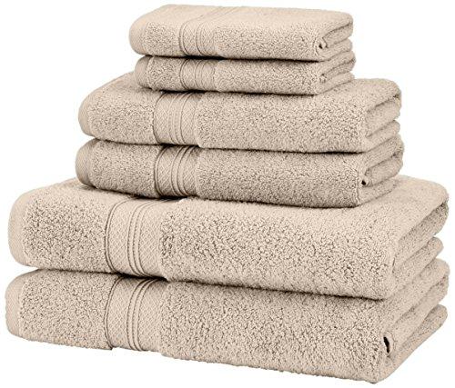 Pinzon - set di 2 asciugamani in cotone pima, kaki