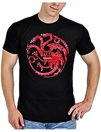 Game of Thrones - Lied von Eis und Feuer Targaryen Drachen T-Shirt Elbenwald schwarz