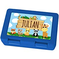 Brotdose mit Namen Julian - Motiv Zoo, Lunchbox mit Namen, Frühstücksdose Kunststoff lebensmittelecht preisvergleich bei kinderzimmerdekopreise.eu