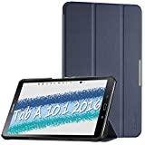 EasyAcc Hülle für Samsaung Galaxy Tab A6 10.1 2016, Ultra Dünn Case mit Standfunktion & Auto Sleep/Wake Up Funktion Slim Leder Case Ideal für Galaxy Tab A 10.1 Zoll T580/ T585, Dunkelblau