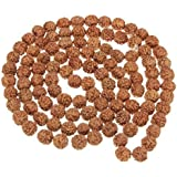 Natural 5 Face Rudraksha Mala 9.00 Mm 108 Beads For Jaap Purpose (Lab Certified). Natural 5 Face Rudraksh Beads/ Natural Five Face Rudraksh Mala (Jaap) 108 Beads / 5 Mukhi Rudraksh / 100% Energised - Trusted Seller On Amazon / Natural 5 Mukhi Rudraksh / O