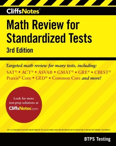 CliffsNotes Math Review for Standardized Tests 3rd Edition by BTPS Testing (2016-08-30)