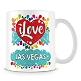 Tazza di caffè, i Love las Vegas personalizzati in ceramica Coffee Cup, 311,8gram, bianco