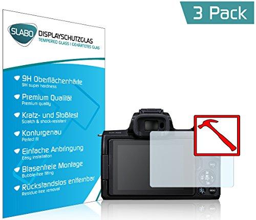 Slabo 3 x Premium Panzerglasfolie Canon EOS M50 Schutzfolie Echtglas Displayschutzfolie Folie Tempered Glass Klar - 9H Hartglas