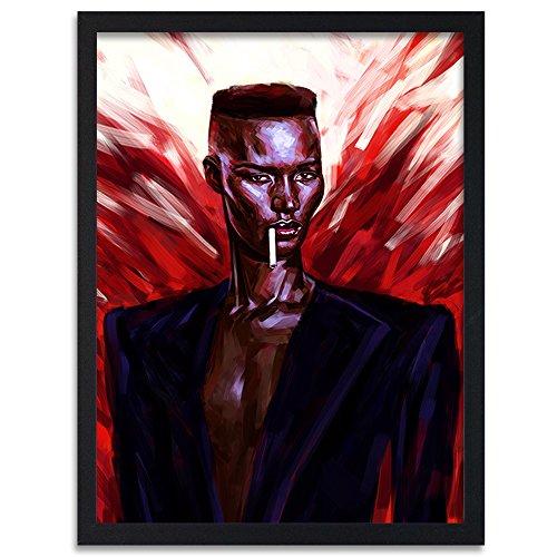 Feeby. Tableau encadré, Tableau Déco, Tableau Mural, Décoration Murale Image Imprimée, 1 Partie - 40x60 cm, Dmitry Belov - Musique Femme Rouge