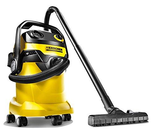 Karcher WD 5 1100-Watt Wet and Dry Vacuum Cleaner (Yellow/Black)