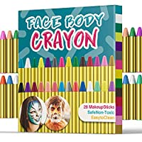 Face Paint Crayon Face Painting Kit for Kids 28 Color face paint crayons JV88JX0164