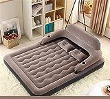 HJDH Home Deluxe Double Flock Luftbett, aufblasbare hoch angehoben Doppel Bett Matratze LUFTMATRATZE Elektrische Luftpumpe