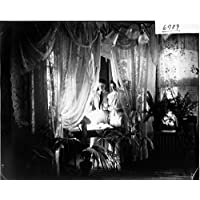 POSTER Two women standing over punch bowl inside the Allen Welsh house 1905 Miami Wall Art Print A3 replica