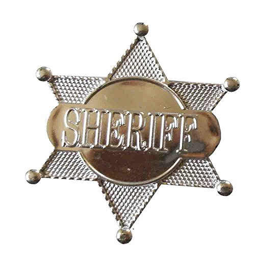 Sheriff-Stern 12 Stück