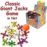 Enfants jeu géant Jacks - 13 Piece Set - couleurs assorties en sac en toile - Bo idéal...