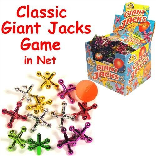 Kids-gioco-Jacks-gigante-13-Piece-Set-colori-assortiti-in-sacchetto-a-rete-Bo-ideale