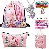 RHCPFOVR Unicorn Gifts for Girls 6 Pack - Unicornio Mochila con cordón/Maquillaje...
