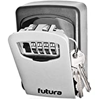 Key Safe Wall Mounted, Outdoor Key Lock Box, Home Security Select Access Key Box, Ultra Tough 4 Digit Combination Secure Key Storage, Extremely Safe Security Steel Key Cabinet, Home, Office, Share Keys, Spare Keys (1)