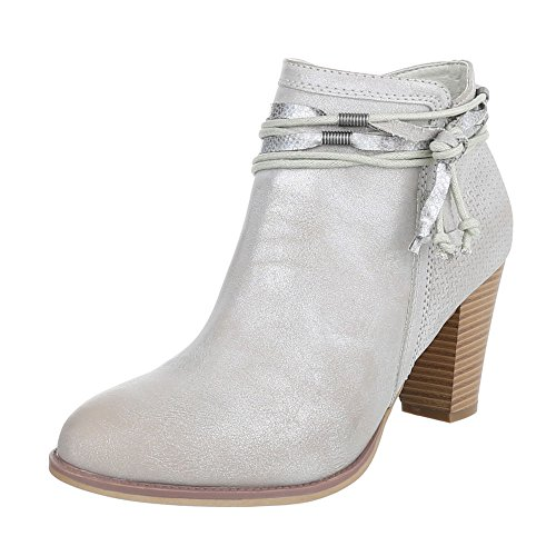 Ital-Design - Stivali western Donna grigio argento