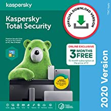 Kaspersky Total Security 2020 Latest Version - 1 User, 1 Year + 3 Months Free (Total 15 Months) (Email Delivery in 2 Hours - No CD)