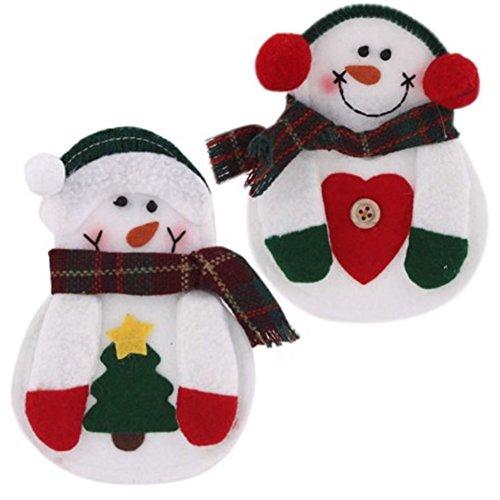PanDaDa 2PCs Lovely Christmas Santa Anzug Dinner Besteckhalter (Claus Santa Sale Anzüge)
