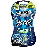 Wilkinson - Xtreme 3 Ultimate Plus - Rasoirs jetables masculins - Pack de 4