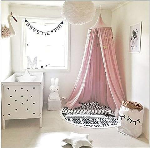 Kinder Betthimmel rund Dome, Baumwolle Moskitonetz, Kids Prinzessin Play Zelte, Raum Dekoration für Baby