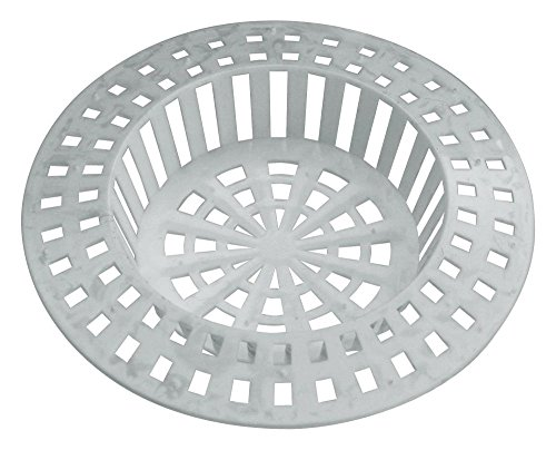 Home Xpert 2er Set Abflusssieb, Spülbeckensieb, Sieb für Dusche, Haarfangsieb, Haarsieb, Ø 70 mm, weiß