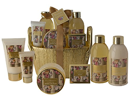 """Salsacollection""""LUXURY GOLD"""" Geschenkset Pflegeset Präsent gefüllt mit 6 Kosmetikprodukten"""
