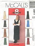 McCall's Pattern Schnittmuster 2311 - Misses Dress, Jumper - Trägerrock - US Size FW (18-20-22)