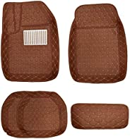 Al Baroon Car Floor Mat 5Pcs With Diamond Zafarani/Zafarani