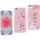 [3 Pack] IPhone 6S Plus Case, IPhone 6 Plus Cover Case, Rosa Schleife Soft Rubber TPU Back Case Silicone Cover Cellphone Case Protective Shell Cases Covers For Apple IPhone 6 Plus/6S Plus