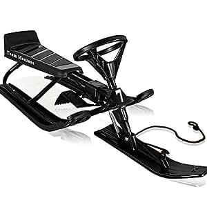 Luge à volant - biplace pour sports d'hiver adultes et enfants max 75kg - NOIR