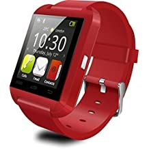 U8 - SmartWatch Bluetooth V3.0 (EDR, pantalla táctil, Android) Smartphone Samsung LG sistema Android IOS color Rojo