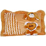 Jiada Soft Love Cushion Pillow For Kids, Gift For Her (Brown)
