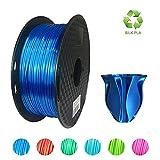 KEHUASHINA Filament PLA Silk 1,75 mm de diamètre pour imprimante 3D - Bobine de 1kg, Bleu foncé - Accessoire pour imprimante 3D, matériel d'impression 3D