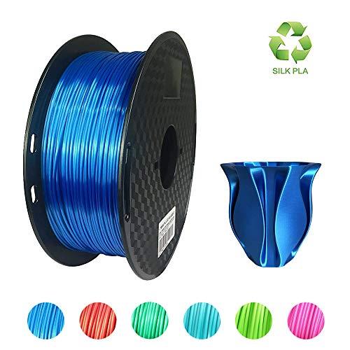 KEHUASHINA 3D Druck Stift Filament 1.75mm PLA 1KG 2.2 LBS 3D Stereoscopic Printing Stift Graffiti Stift Vorräte 3D Pen Filament SILK Blue PLA, seidig blau pla, seidig blau Filament, silk blue pla -