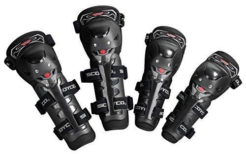 Crazy AL 'S ® cak11h11-2Knie und Ellenbogen Wachen für Motocross und Reiten 4in1Hohe Qualität CE Motorrad Kniestützen und elbow-pads schwarz -