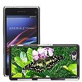 Grand Phone Cases Bild Hart Handy Schwarz Schutz Case Cover Schale Etui // M00141492 Lime Butterfly Papilio Demoleus // Sony Xperia Z1 Compact D5503