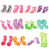 #6: MagiDeal 12 Pairs Party Daily Wear Dress Clothes Match Shoes Sandal For Barbie Doll for Barbie Doll Dresses Clothes